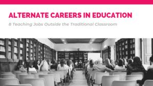 header for blog post Alternative Careers in Education via Enable Education