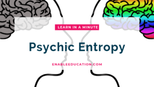 Psychic Entropy Title, image of brain silhouettes